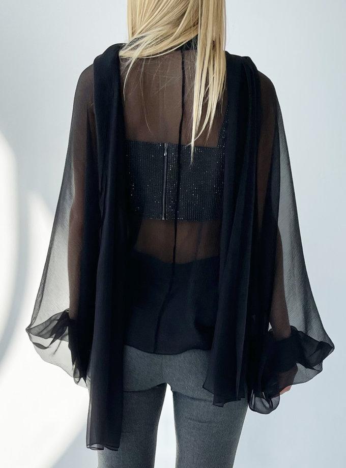Блуза шифонова з цільнокрійним рукавом LUSSO_SS21_15, фото 1 - в интернет магазине KAPSULA
