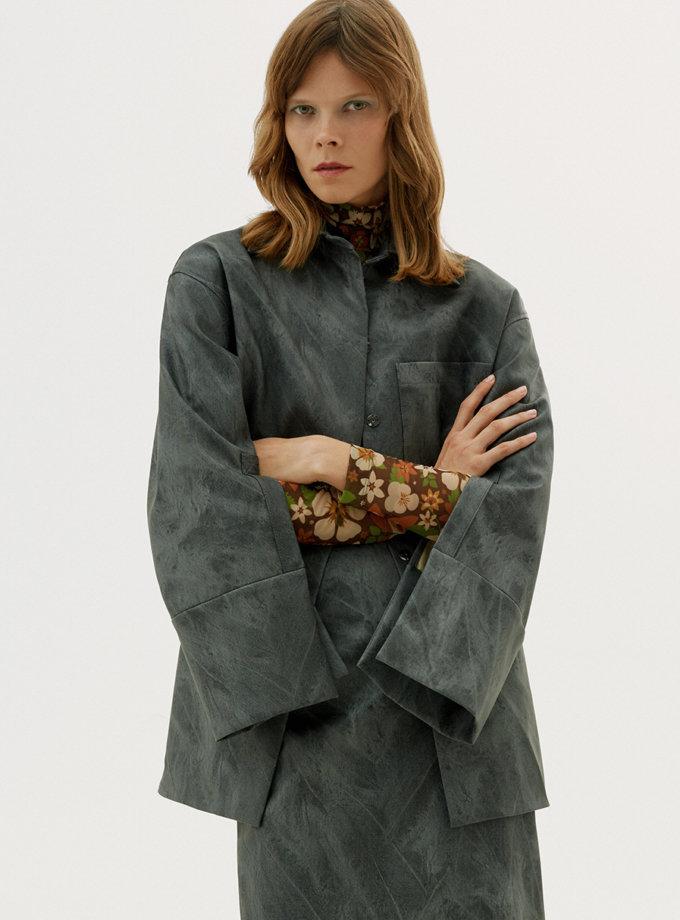 Рубашка из эко-кожи SAYYA_FW1216, фото 1 - в интернет магазине KAPSULA