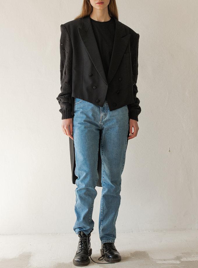 Фрак из шерсти NNB_knit_slv_BLACK, фото 1 - в интернет магазине KAPSULA