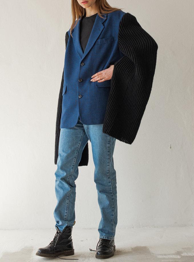Жакет из шерсти NNB_knit_slv_BLUE.BLACK, фото 1 - в интернет магазине KAPSULA