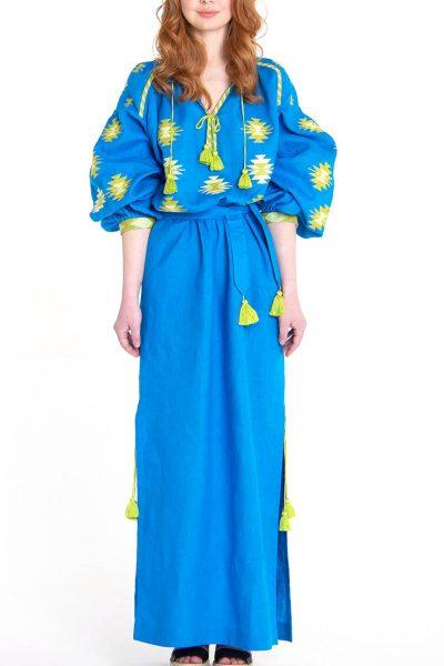 Платье-вышиванка FOBERI_01082, фото 1 - в интеренет магазине KAPSULA
