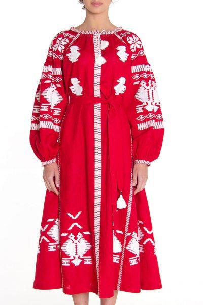 Платье-вышиванка FOBERI_129, фото 1 - в интеренет магазине KAPSULA