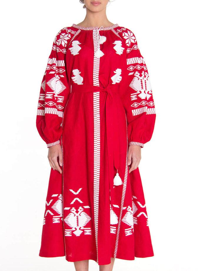 Платье-вышиванка FOBERI_01064, фото 1 - в интеренет магазине KAPSULA