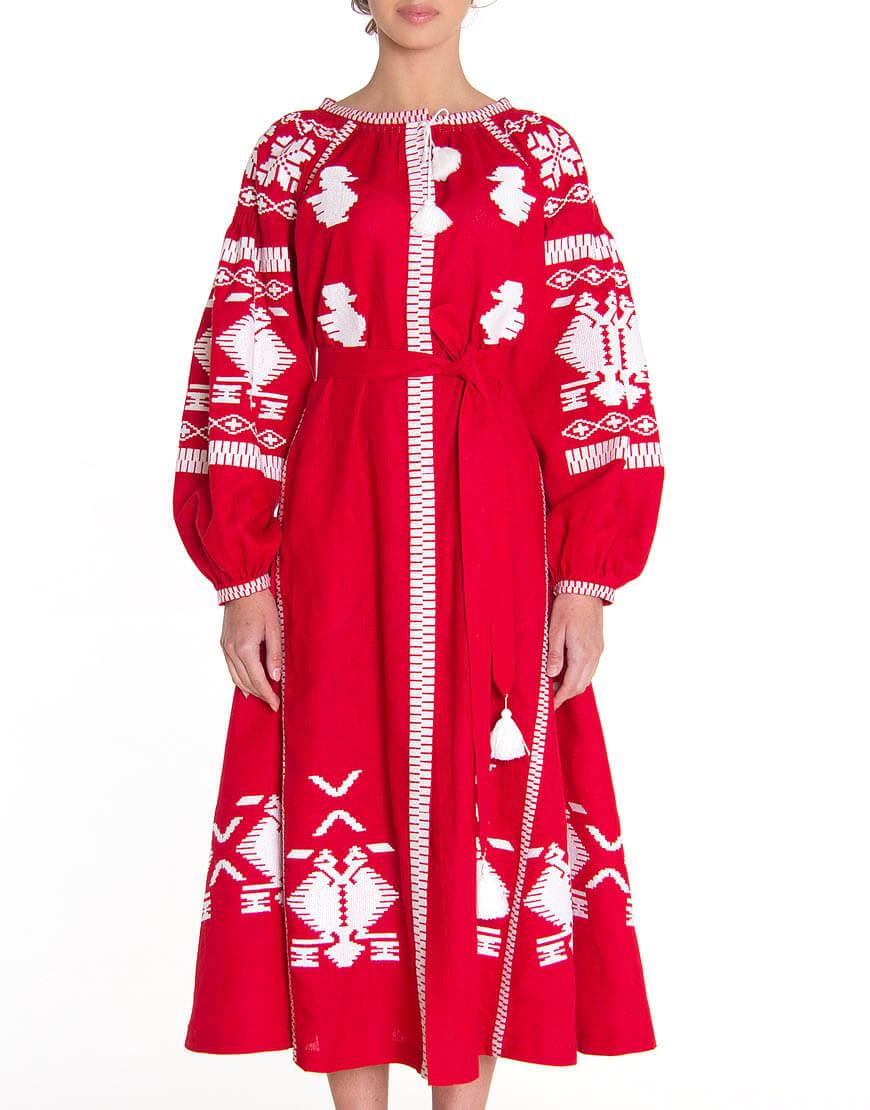 Платье-вышиванка FOBERI_01064, фото 1 - в интернет магазине KAPSULA