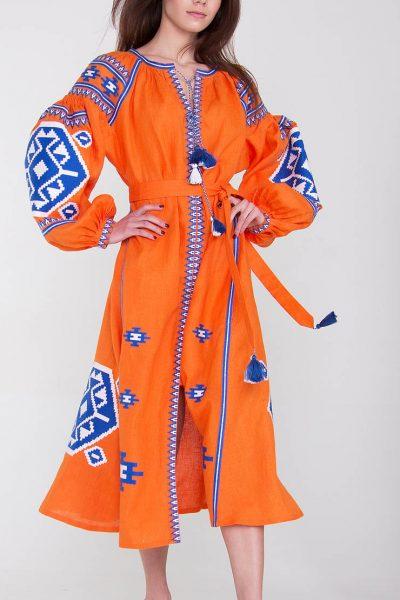 Платье-вышиванка FOBERI_1194, фото 1 - в интеренет магазине KAPSULA