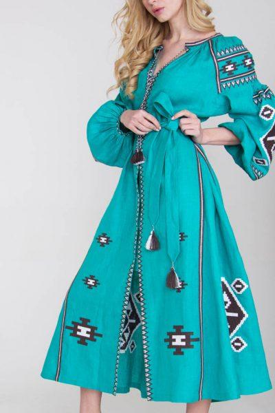 Платье-вышиванка FOBERI_125, фото 1 - в интеренет магазине KAPSULA
