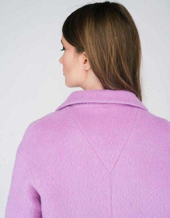 Пальто ворсовое светло-фиолетовое CYAN_CT#G01_outlet, фото 5 - в интеренет магазине KAPSULA