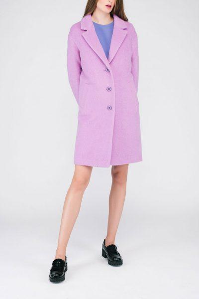 Пальто ворсовое светло-фиолетовое CYAN_CT#G01_outlet, фото 4 - в интеренет магазине KAPSULA