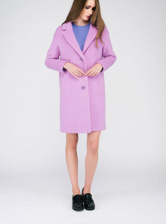 Пальто ворсовое светло-фиолетовое CYAN_CT#G01_outlet, фото 1 - в интеренет магазине KAPSULA