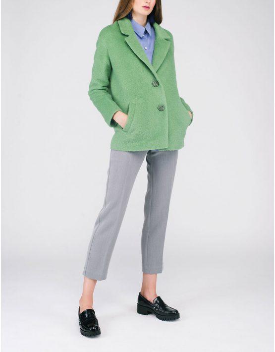 Пальто укороченное ворсовое CYAN_CT#G02_outlet, фото 7 - в интеренет магазине KAPSULA