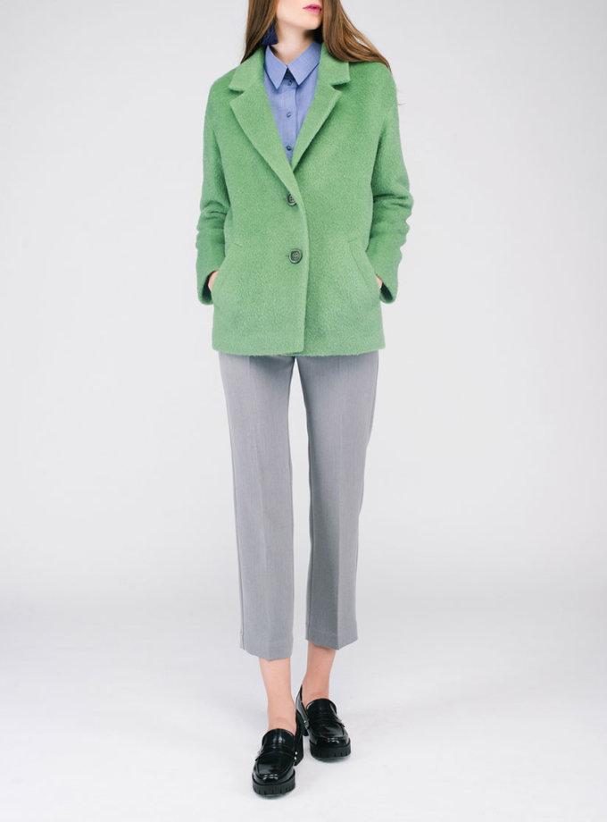 Пальто укороченное ворсовое CYAN_CT#G02_outlet, фото 1 - в интеренет магазине KAPSULA