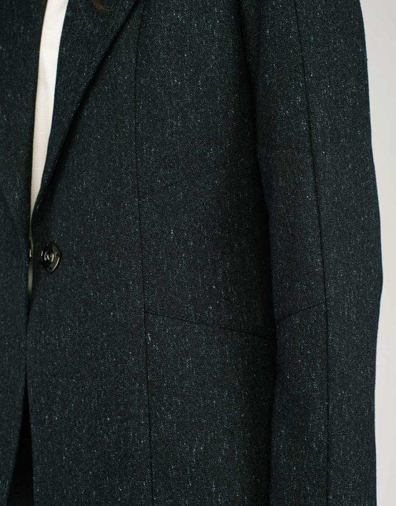 Жакет сложного кроя с поясом CYAN_JT#G01, фото 6 - в интеренет магазине KAPSULA