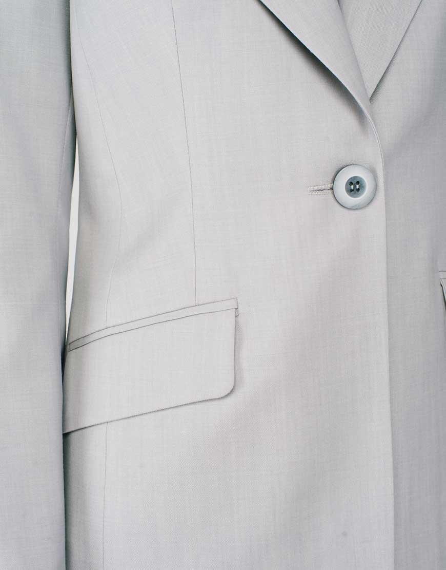 Классический жакет из тонкой шерсти CYAN_JT#G02, фото 1 - в интернет магазине KAPSULA