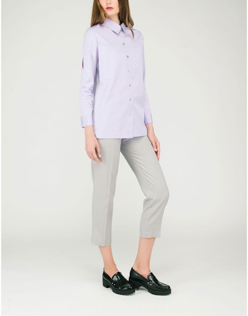 Бледно-розовая рубашка с разрезами CYAN_SH#G01, фото 1 - в интеренет магазине KAPSULA