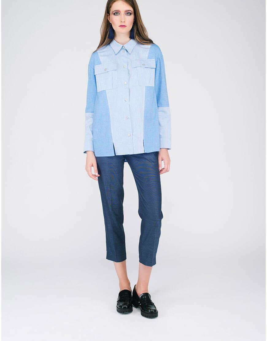 Рубашка «джинсовая» CYAN_SH#G04, фото 1 - в интеренет магазине KAPSULA