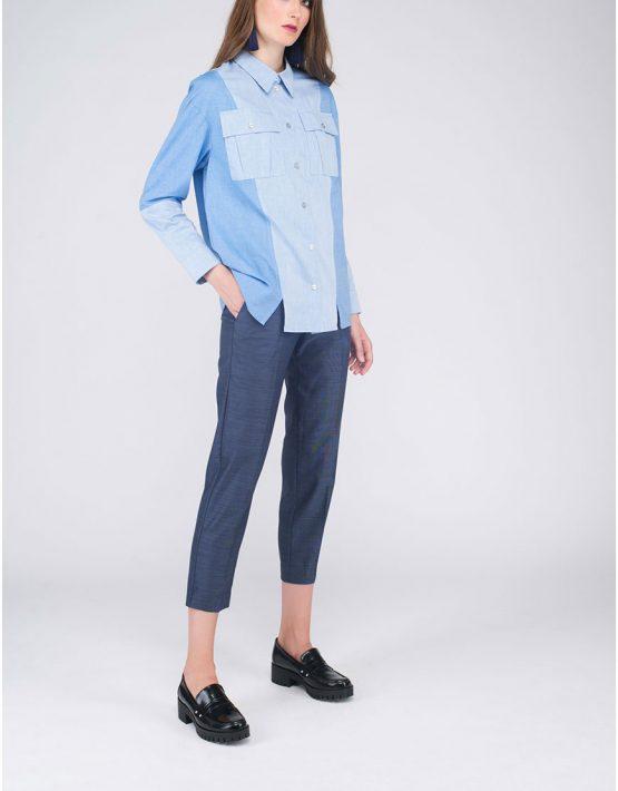 Рубашка «джинсовая» CYAN_SH#G04, фото 5 - в интеренет магазине KAPSULA
