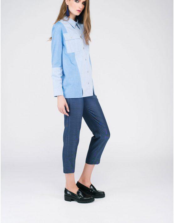 Рубашка «джинсовая» CYAN_SH#G04, фото 3 - в интеренет магазине KAPSULA
