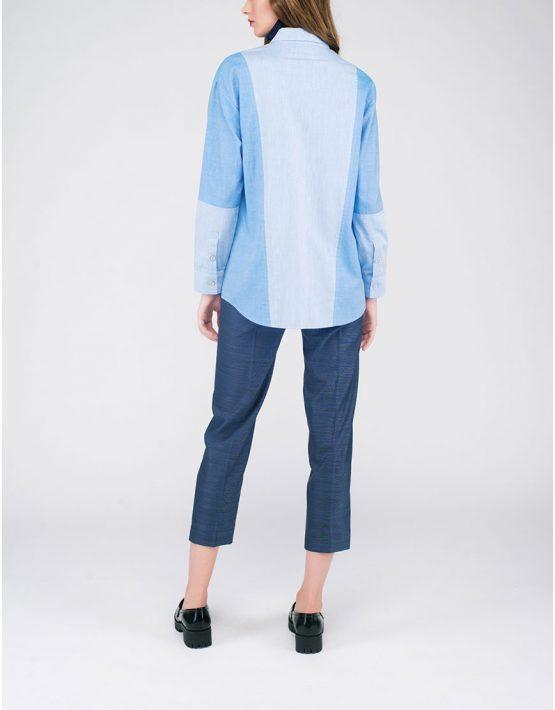 Рубашка «джинсовая» CYAN_SH#G04, фото 4 - в интеренет магазине KAPSULA