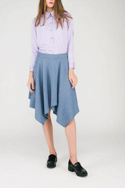 Расклешенная юбка CYAN_ST#G03, фото 5 - в интеренет магазине KAPSULA