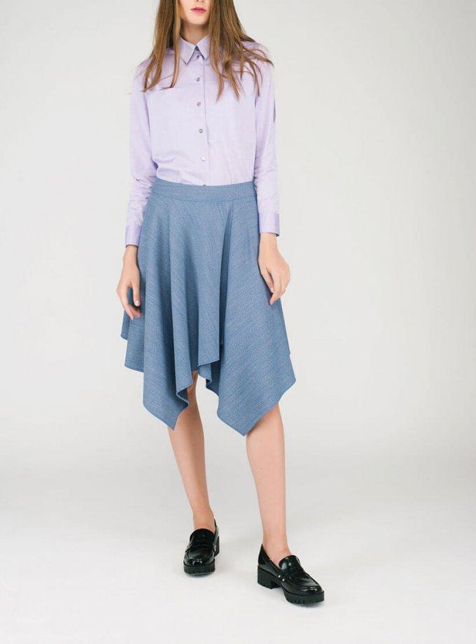 Расклешенная юбка CYAN_ST#G03, фото 1 - в интеренет магазине KAPSULA