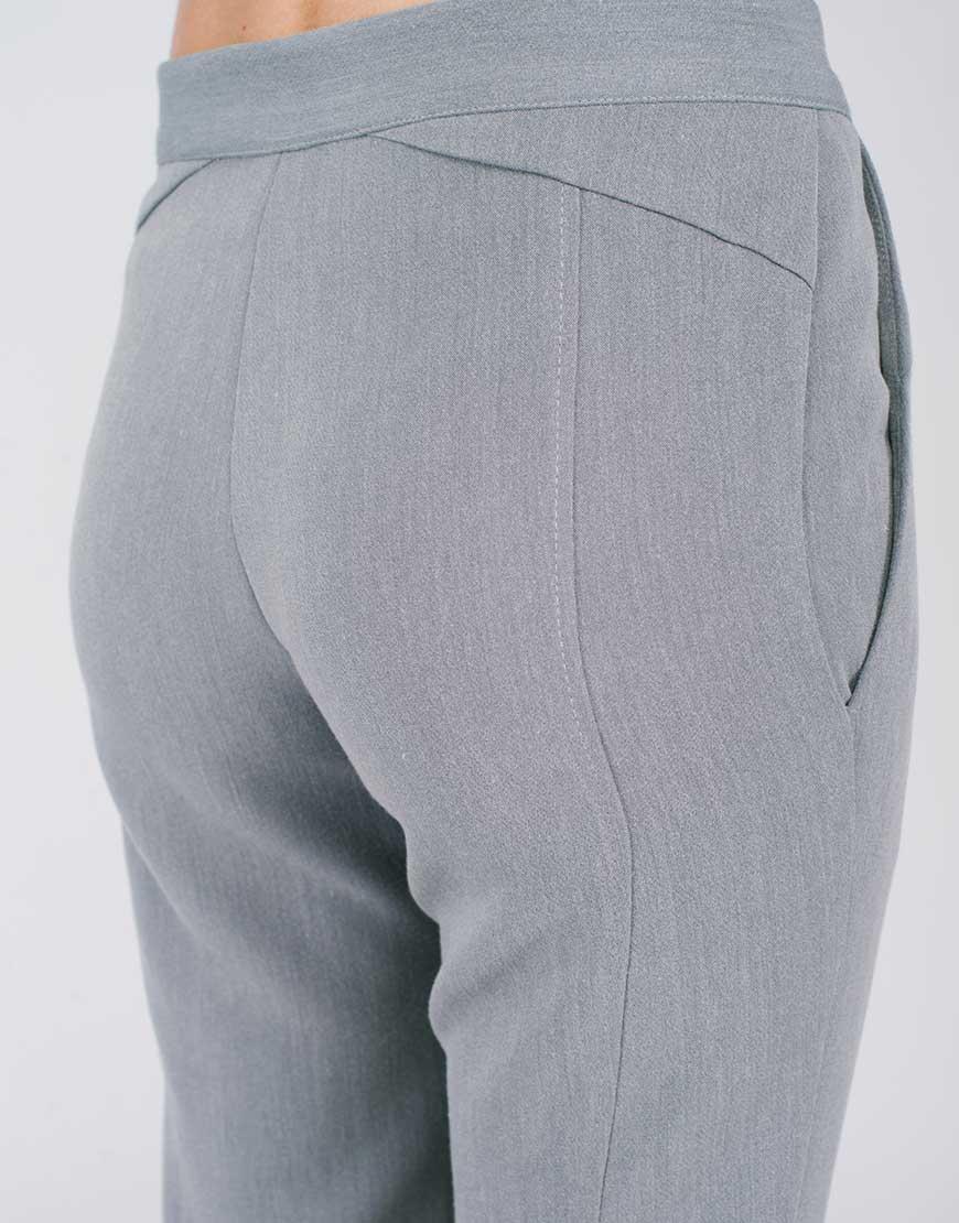 Брюки-дудочки серые CYAN_TR#G03_outlet, фото 1 - в интернет магазине KAPSULA