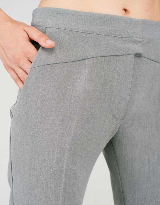 Брюки-дудочки серые CYAN_TR#G03_outlet, фото 6 - в интеренет магазине KAPSULA