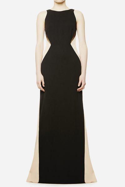 Двухцветное макси-платье CAVO_043, фото 8 - в интеренет магазине KAPSULA