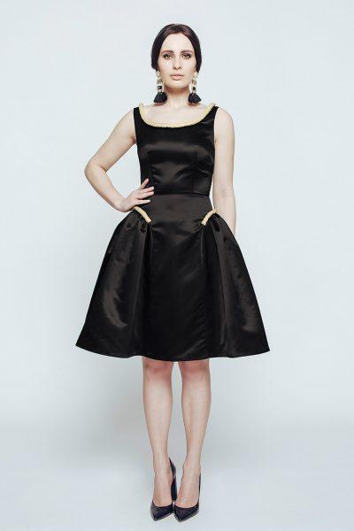 Атласное вечернее платье CAVO_011, фото 1 - в интеренет магазине KAPSULA