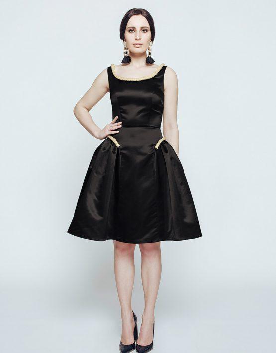 Атласное вечернее платье CAVO_011, фото 3 - в интеренет магазине KAPSULA