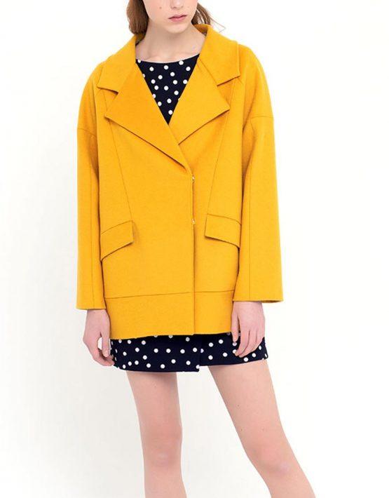 Пальто короткое желтое CYAN_CT#F01, фото 1 - в интеренет магазине KAPSULA