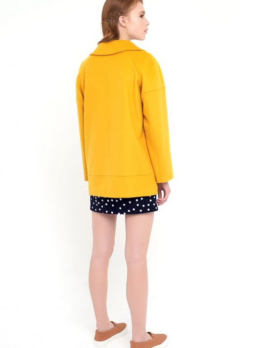 Пальто короткое желтое CYAN_CT#F01, фото 2 - в интеренет магазине KAPSULA