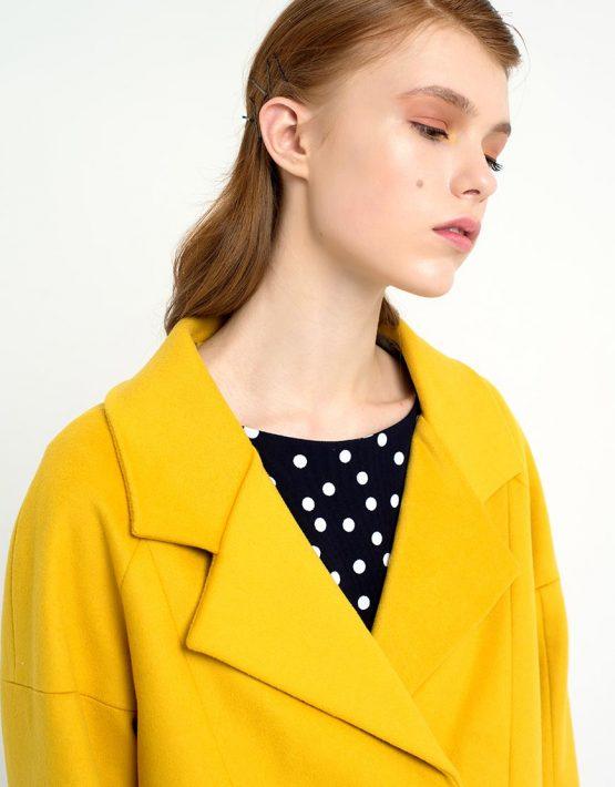 Пальто короткое желтое CYAN_CT#F01, фото 3 - в интеренет магазине KAPSULA