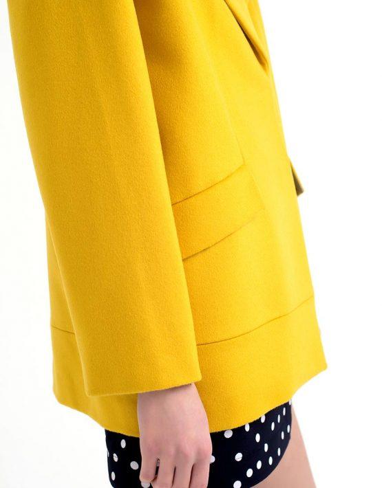 Пальто короткое желтое CYAN_CT#F01, фото 4 - в интеренет магазине KAPSULA