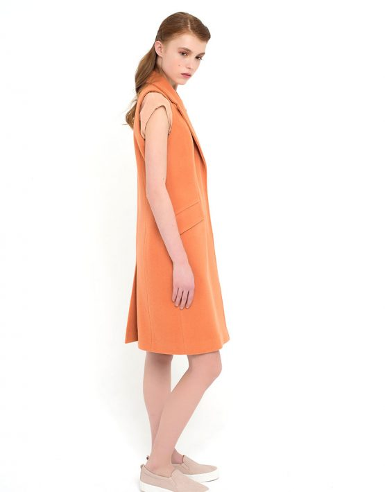 Жилет с карманами CYAN_JT#F01_peach_outlet, фото 5 - в интеренет магазине KAPSULA