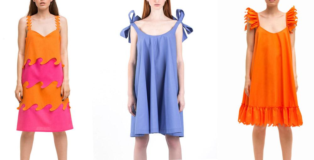 weannabe-orange-midi-dress-with-frilled-sleeves,ПЛАТЬЕ С ПЕРФОРАЦИЕЙ,WeAnnaBe