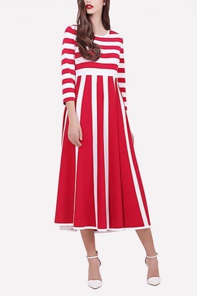 Платье миди JND_16-100603_red, фото 4 - в интеренет магазине KAPSULA